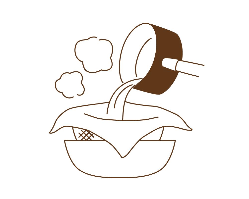 晒木綿(さらしもめん)は、きれいに澄んだ出汁が取れます。