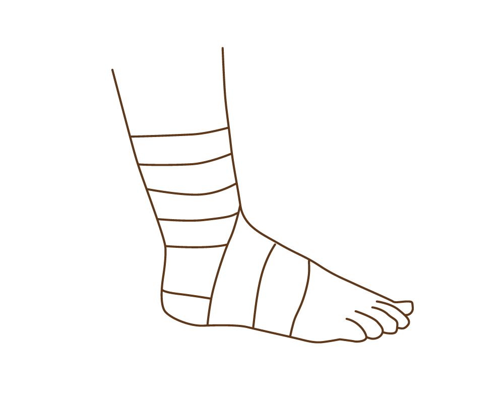 晒木綿(さらしもめん)は、緊急時は縦に裂いて包帯の代わりに。