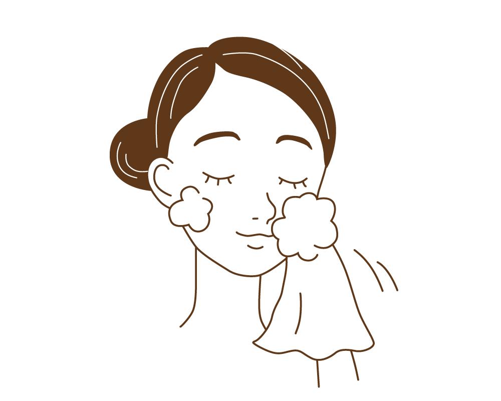 晒木綿(さらしもめん)は、顔・体を泡でくるくる撫でれば優しく汚れを落としてくれます。
